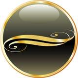 Goldblackbutton Royalty Free Stock Images