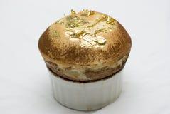 Goldblattauflauf stockfoto