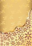 Goldblumenhintergrund Stockfotografie