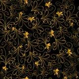 Goldblumenmuster Lizenzfreie Stockbilder