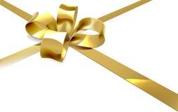 Goldbogen-Geschenk-Hintergrund Stockbild