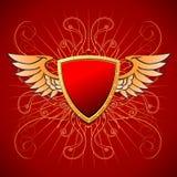 Goldbrett auf einem roten Hintergrund Lizenzfreie Stockbilder