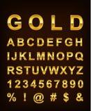 Goldbuchstabe stock abbildung
