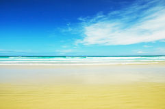 Goldcoast beach. Sunny day on the beach in Goldcoast, Queensland, Australia Royalty Free Stock Images