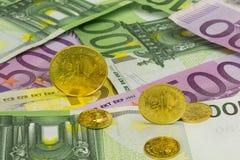 Goldcoinsbankbiljetten 3 Stock Afbeeldingen