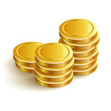 GoldCoinsVectorIconEpsPayment. Gold Coins Vector Icon Eps Payment Royalty Free Stock Image