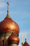 Goldcroix auf alter Kirche #5 stockbilder