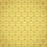 Golddamast-Blumen-Muster auf Pastellhintergrund Lizenzfreie Stockfotos