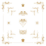 Golddekorative Elemente, Stockbilder