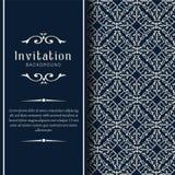 Golddekorative Heiratseinladungsschablone, Grußkarten-Einladungsverzierungen lizenzfreie stockbilder