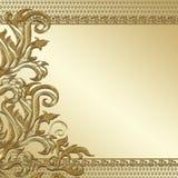 Golddekorativer Hintergrund lizenzfreies stockbild