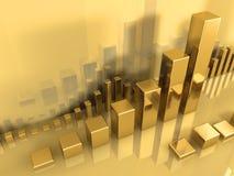 Golddiagramm Stockbild