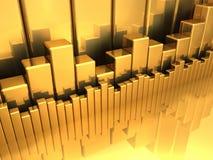 Golddiagramme stock abbildung