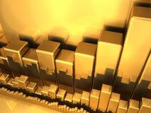 Golddiagramme Lizenzfreie Stockfotografie