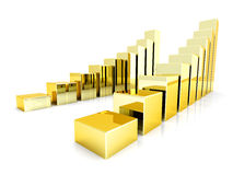 Golddiagramme Stockbilder