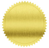 Golddichtung oder -medaille Stockfotografie