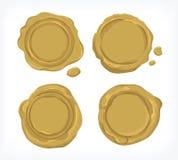 Golddichtungswachs Vektor und cliparts für Industrien Lizenzfreie Stockbilder