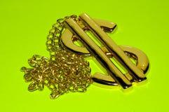 Golddollar-Halskette Stockbild