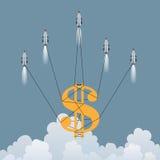 Golddollar-Rettung Lizenzfreie Stockfotos