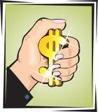 Golddollarzeichen Stockfotos