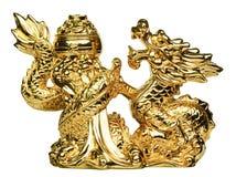 Golddrache Stockfoto