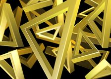 Golddreieckdesign Lizenzfreie Stockfotografie