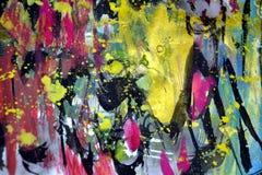 Golddunkles gelbes Rosa spritzt, bunte klare wächserne Farben, kreativer Hintergrund der Kontraste Lizenzfreies Stockfoto