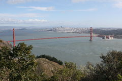 golde строба моста стоковое фото