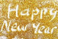 Golde de la Feliz Año Nuevo Foto de archivo libre de regalías