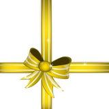 Goldeb gift bow Stock Photos