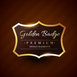 Goldeb premium badge label vector design Royalty Free Stock Image