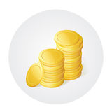Golded coins Stock Photo