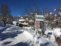 Goldegg, Austria w zimie Obraz Royalty Free