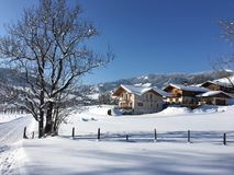 Goldegg, Austria in Winter Royalty Free Stock Image
