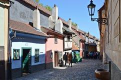 Goldem Street in Prague Royalty Free Stock Images
