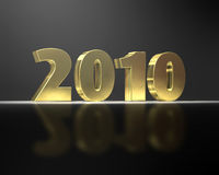 Golden 2010. Rendered golden 2010 year on black background Vector Illustration