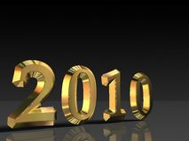 Golden 2010 Stock Photography