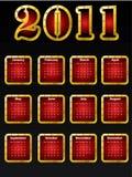 Golden 2011 calendar design Royalty Free Stock Photo