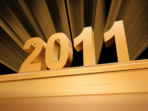 Golden 2011 on a pedestal Stock Image