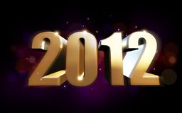 Golden 2012 Royalty Free Stock Image