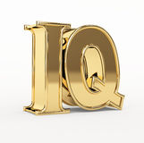 Golden 3d  letters I and Q Royalty Free Stock Photo