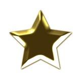 Golden 3D star Stock Image