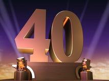 Golden 40 Royalty Free Stock Photo