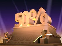 Golden 50% Royalty Free Stock Image