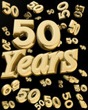 Golden 50 years anniversary Stock Images