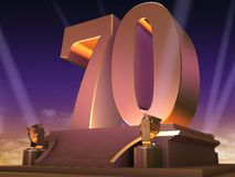 Golden 70 - film style Stock Images