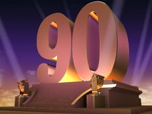 Golden 90 - film style Stock Images