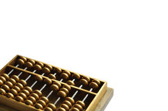 Golden abacus. A golden abaccus showing number 1628 -- close to pronunciation of always easy to be rich in Cantonese Stock Photo