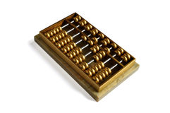 Golden Abacus. A golden abacus showing number 1628 -- close to pronouciation of always easy to be rich in Cantonese Royalty Free Stock Image