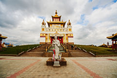 Golden Abode of Buddha Shakyamuni Stock Photo